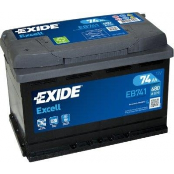 EXIDE S106-EB741 EXCELL 74Ah 680A (+ -) 278x175x190