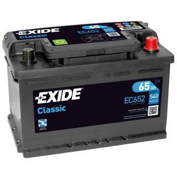 EXIDE S106-EC652 CLASSIC 65Ah 540A (- +) 278x175x175