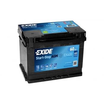 EXIDE S106-EK600 AGM 60Ah 680A (- +) 242x175x190