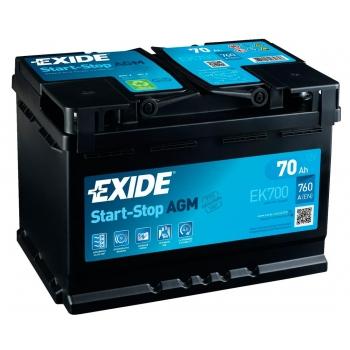 EXIDE S106-EK700 AGM 70Ah 760A (- +) 278x175x190