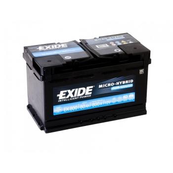 EXIDE S106-EK800 AGM 80Ah 800A (- +) 315x175x190