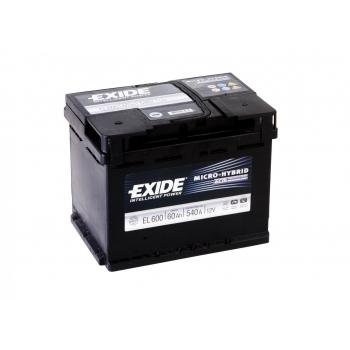 EXIDE S106-EL600  ECM (EFB) 60Ah 540A (- +) 242x175x190