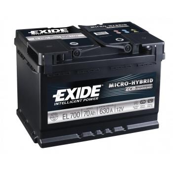 EXIDE S106-EL700  ECM (EFB) 70Ah 630A (- +) 278x175x190