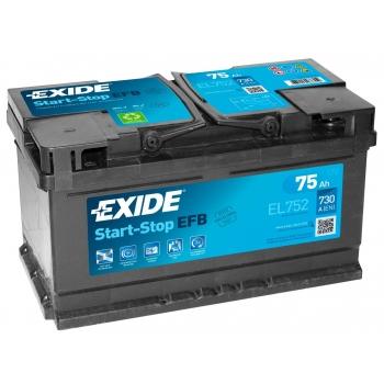 EXIDE S106-EL752  ECM (EFB) 75Ah 730A (- +) 315x175x175