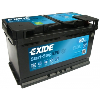 EXIDE S106-EL800  ECM (EFB) 80Ah 720A (- +) 315x175x190