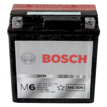 BOSCH MC AGM 12 V 6 Ah 50 A 3 114x71x131