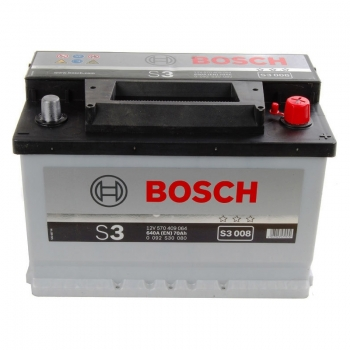 BOSCH S3 70 Ah 640 A 0 (- +) 278x175x190