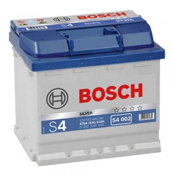 BOSCH S4 52 Ah 470 A 0 (- +) 207x175x190