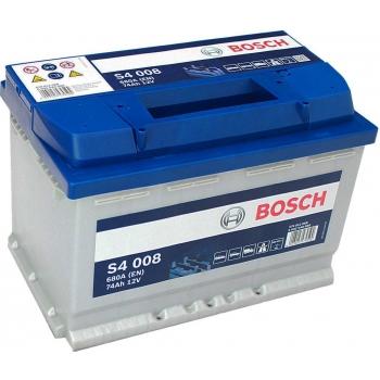 BOSCH S4 74 Ah 680 A 0 (- +) 278x175x190