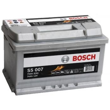 BOSCH S5 74 Ah 750 A 0 (- +) 278x175x175