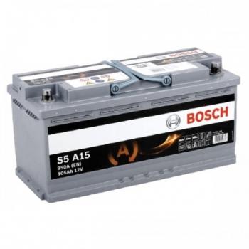BOSCH S5-AGM 105 Ah 950 A 0 (- +) 393x175x190