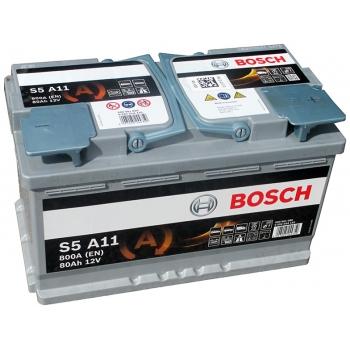 BOSCH S5-AGM 80 Ah 800 A 0 (- +) 315x175x190