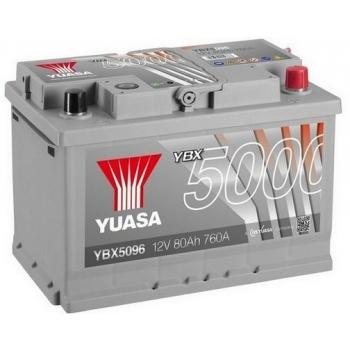 YUASA YBX5096 80Ah 760A Silver High Performance  0(- +) 278x175x190