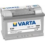 VARTA E38 74 Ah 750 A 0 (- +) 278x175x175