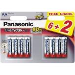 AA(6+2)Everyday Panasonic patarei