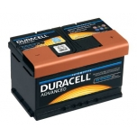 Duracell Advanced 72Ah 660A 278x175x175 +