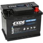 EXIDE EP500 DUAL AGM  12V 60Ah/680A 242x175x190 -+