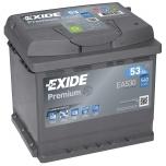EXIDE EA530 PREMIUM 53Ah 540A (- +) 207x175x190