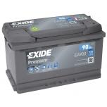 EXIDE EA900 PREMIUM 90Ah 720A (- +) 315x175x190