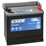 EXIDE EB450 EXCELL 45Ah 330A (- +) 218x133x223
