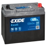 EXIDE EB454 EXCELL 45Ah 300A (- +) 234x127x220