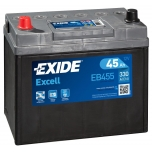 EXIDE EB455 EXCELL 45Ah 300A (+ -) 234x127x220
