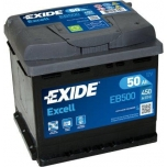 EXIDE EB500 EXCELL 50Ah 450A (- +) 207x175x190