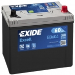 EXIDE EB604 EXCELL 60Ah 390A (- +) 230x172x220