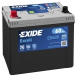 EXIDE EB605 EXCELL 60Ah 390A (+ -) 230x172x220