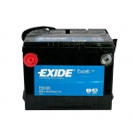EXIDE EB608 EXCELL 60Ah 640A (+ -) 230x180x186