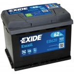 EXIDE EB620 EXCELL 62Ah 540A (- +) 242x175x190