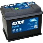 EXIDE EB621 EXCELL 62Ah 540A (+ -) 242x175x190
