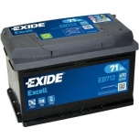 EXIDE EB712 EXCELL 71Ah 670A (- +) 278x175x175