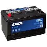 EXIDE EB788 EXCELL 78Ah 850A (+ -) 306x192x192