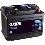 EXIDE EC700 CLASSIC 70Ah 640A (- +) 278x175x190