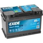 EXIDE EL652  ECM (EFB) 65Ah 650A (- +) 278x175x175