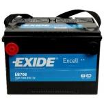 Exide EB708 Exell 12V 70Ah 740A +-