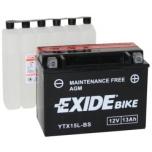 Exide YTX15L-BS 12V 13Ah 175x87x130 -+