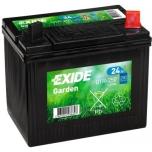 Exide Garden aku 12V 24Ah 197x132x186 -+