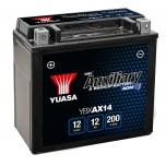 Yuasa YBXAX14 12V 12Ah 200A Yuasa Auxiliary Battery 150*87*145